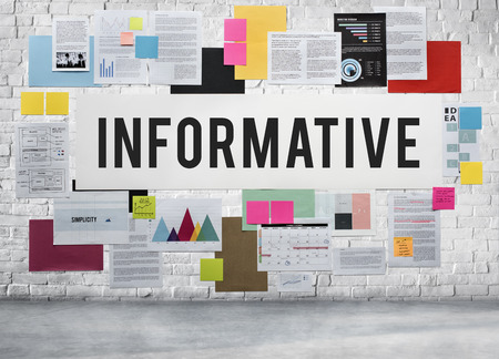 informative: Informative Information Diagram Idea Internet Concept Stock Photo
