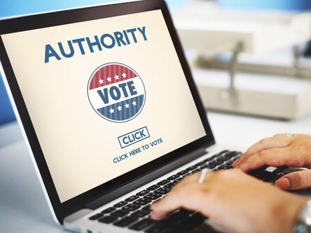 permit: Authority Allow Agent Approve Permit Authorize Concept Stock Photo