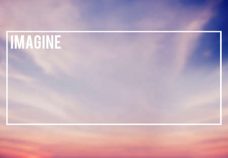 Blue and Pink Sky Background Imagine Imagination Concept Stock Photo