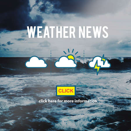 forecaster: Weather News Information Prediction Climate Daily Concept Stock Photo