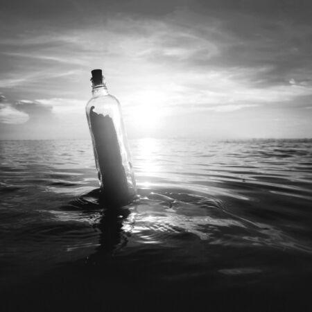 message in a bottle: Message Bottle Communication Tranquil Letter Concept