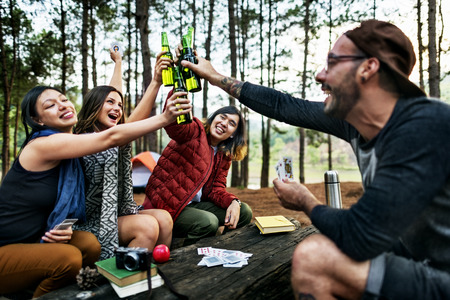 wander: Friendship Hanging Drinks Cheers Together Concept