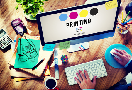 Proces druku offsetowy Tusz Kolor Przemysł Media Concept