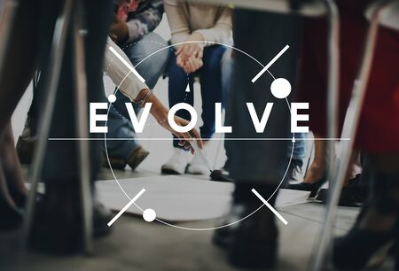 evolve: Evolve Better Change Growth Innovation Theory Concept
