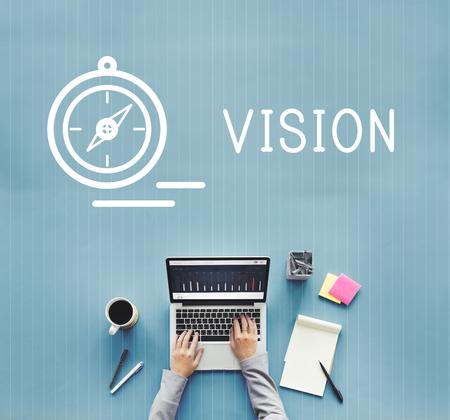 sense of sight: Vision Imagine Ideas Goals Inspiration Concept Stock Photo