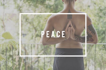 restfulness: Peace Meditation Practice Power Concept