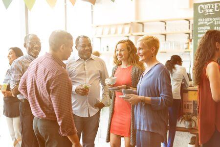 socialize: Diversity People Party Brunch Cafe Concept