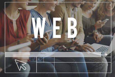 socialise: Web Website Webpage Online Connection Concept