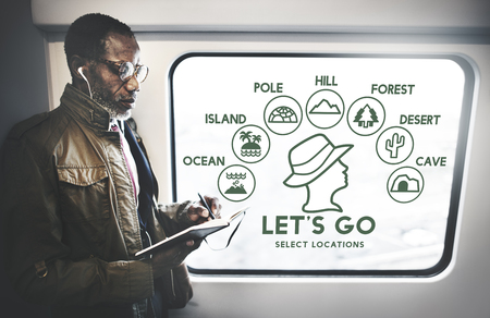 lets: Lets Go Adventure Travel Journey Experience Concept Stock Photo