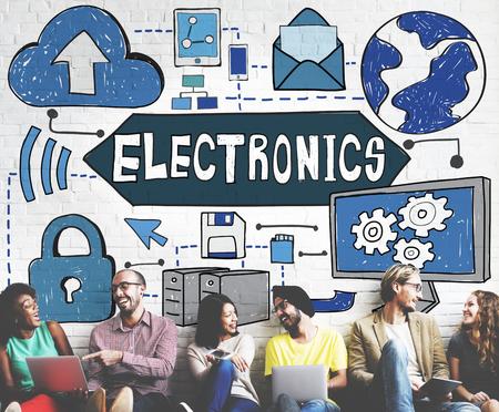 advanced computing: Electronics Innovation Solutions Evolution Concept