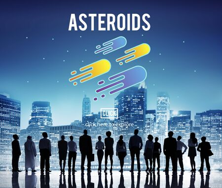 astronomy: Asteroids Astronomy Exploration Nebular Concept Stock Photo