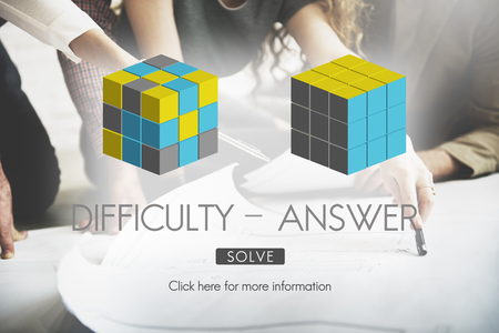 Difficulty Answer Solution Solving Strategy Result Concept Stock Photo