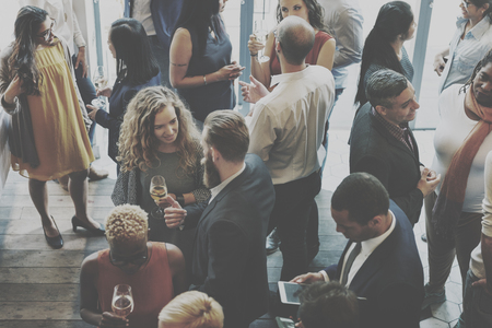 Campo Casual Colegas reunião de discussão Concept