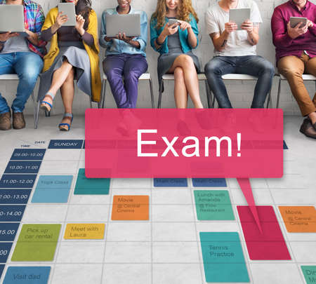 test deadline: Exam Schedule Education Planning Remember Concept