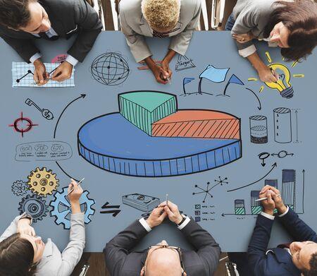 Affaires Pie Chart Market Share Concept Banque d'images
