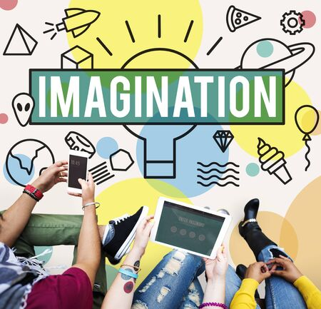 dream vision: Imagine Vision Inspiration Creativity Dream Big Concept Stock Photo