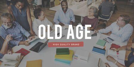 seniority: Elderly Adult Senior Seniority Mature Concept Stock Photo