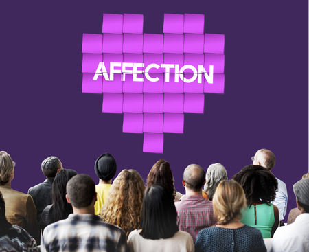 afecto: Amor y afecto concepto gráfico del corazón