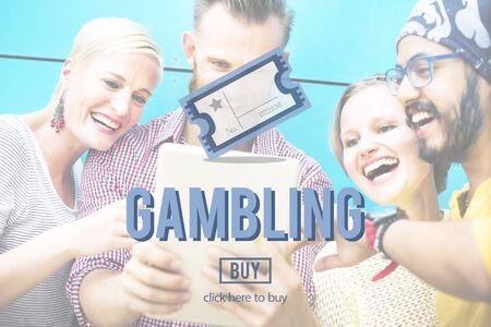 betting: Gambling Betting Bet Jackpot Lottery Lucky Concept