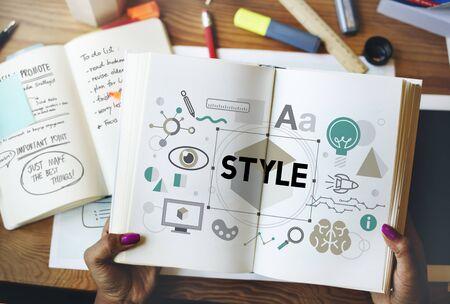trendy: Style Trendy Design Creative Concept Stock Photo