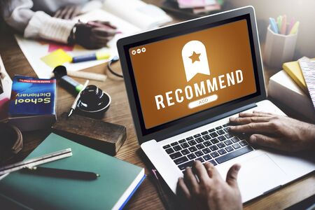 recommend: Recommend Bookmark Content Web Online Management Concept