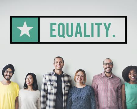 Equality Friends Team Community Fair Concept Reklamní fotografie