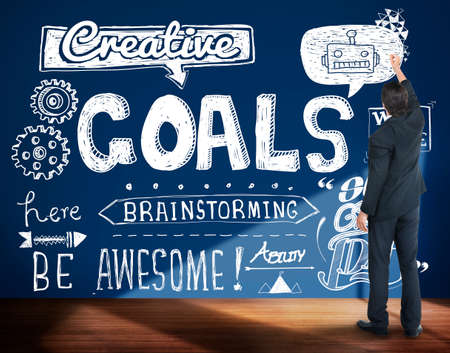 hopeful: Goals Creative Hopeful Inspiration Sketch Concept Stock Photo