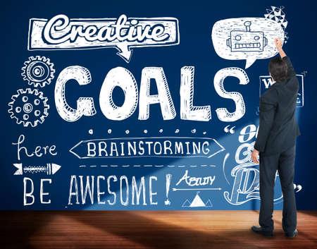 Goals Creative Hopeful Inspiration Sketch Concept Stock Photo