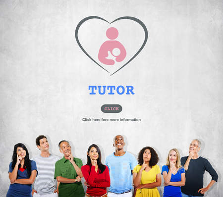 the elderly tutor: Tutor Training Education Intelligence Tutoring Concept Stock Photo