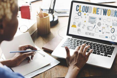 storage: Cloud Network Connection Data Information Storage Concept