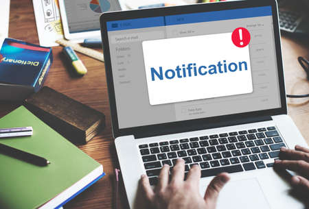 notification: Message Inbox Notification Icon Concept