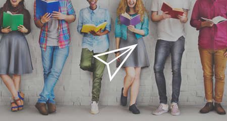 studens: Paper Airplane Rocket Launce Growth Success Startup Concept