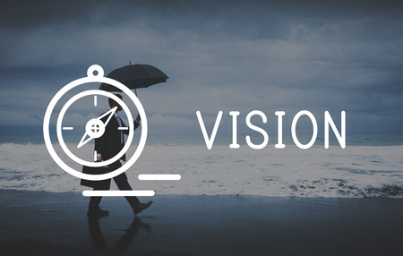 vision loss: Vision Direction Future Ideas Motivation Target Concept Stock Photo