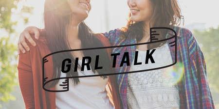 bff: Girlfriends Girl Talk Friendship Togetherness Relationship Concept