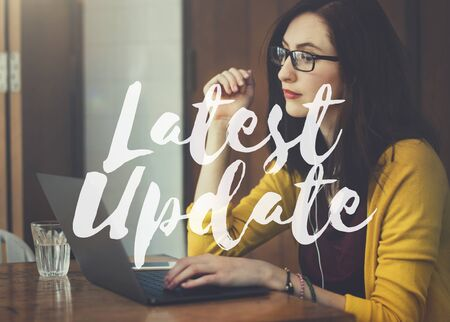 the latest: Latest Update Programming Software Upgrade Firmware Concept Stock Photo