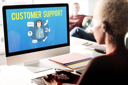 support services: Customer Support Contact Center Advice Concept