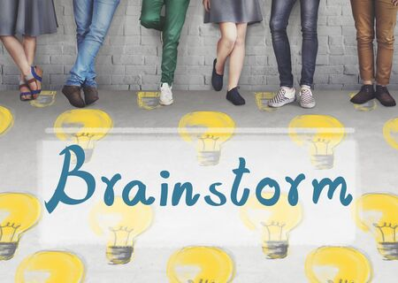inspiration: Brainstorm Ideas Creativity Imagination Inspiration Concept Stock Photo