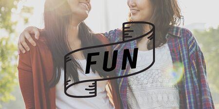 enjoyment: Fun Activities Enjoyment Happiness Enjoyment Pleasure Concept