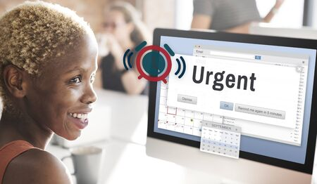 urgency: Urgent Necessary Important Immediately Urgency Priority Concept