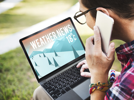 meteorology: Weather Update Temperature Forecast News Meteorology Concept