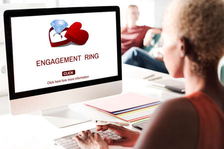 engagement ring: Engage Engagement Ring Couple Love Concept