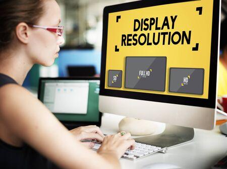 resolution: Display Resolution Screen Modern Technology Concept
