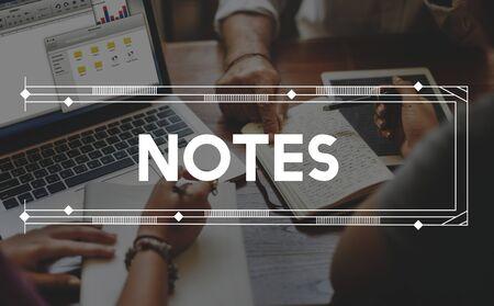 letter memo: Note Memo Message Reminder Letter Concept