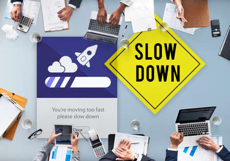 worrying: Keep Calm Reduce Speed Relax Slow Down Concept Stock Photo