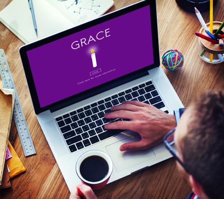 refinement: Grace Elegance Faith Refinement Religion Spirit Concept