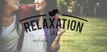 chill: Relax Calm Chill Freedom Happiness Life Peace Concept Stock Photo