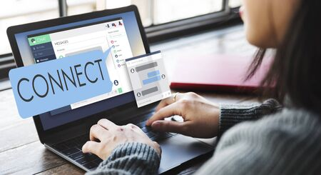 chat online: Connect Connection Access Network Join Link Concept