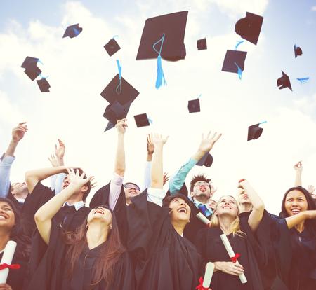 diverse students: Graduation Student Commencement University Degree Concept