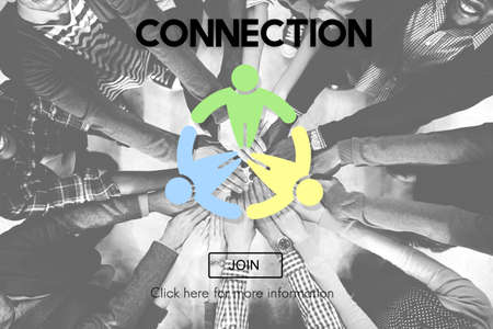 black empowerment: Connection Connect Social Networking Interconnection Concept Stock Photo
