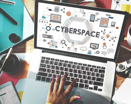 copy writing: Cyberspace Technology Global Connection Digital Concept